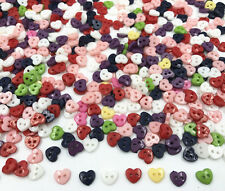 Mini heart shape Mixed Colors Resin Buttons 2-holes sewing scrapbooking 6mm