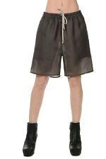 RICK OWENS New Woman Silk Pants Shorts Grey Original Made in Italy NWT