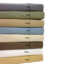 """1000TC 20""""/30"""" Deep Pocket Fitted Sheet Egyptian Cotton All Solid Color US-Size"""