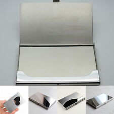 Stainless Steel Metal Wallet Pocket Business ID Credit Card Holder Box Case