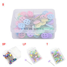 100X Patchwork Pins Flowers Buttons Head Pins Quilting Tools Sewing Accessories