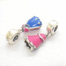 Authentic Genuine S925 Sterling Silver Anna Dress Dangle Enamel Charm
