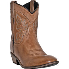 Dingo Womens Antique Tan Willie Leather Cowboy Boots Low Western