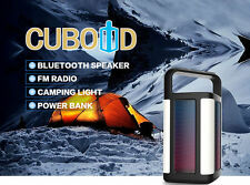 Outdoor Bluetooth Wireless Portable Speaker Super Bass with USB/AUX/FM Radio/LED