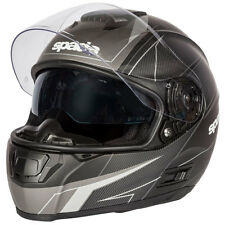 Spada SP16 Linear Full Face Motorcycle Helmet - Black / Silver / Anthracite