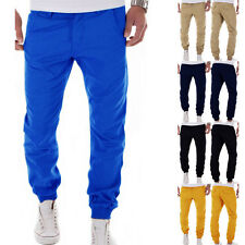 Men's Fashion Stylish Casual Comfy Solid Beam Pants Baggy Jogger Slim Trousers