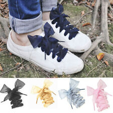 Sport Shoes lace Shoelaces Flat Silk Satin Ribbon Laces Sneakers Shoestrings