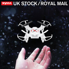 UK RC Syma Remote Control Lights Airplane Quadcopter Indoor Outdoor Kids Toy RTF