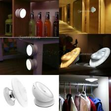 360°Rotate LED Motion Sensor Night Light Stick On Anywhere USB Rechargeable Lamp