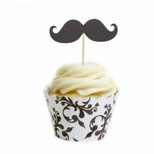 Dress My Cupcake Moustache Cupcake Topper and Wrapper DIY Kit, Standard, Brown F