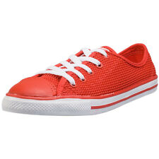 Converse Ctas Dainty Ox Womens Trainers Red White Branded Footwear
