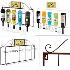 Hanging Wall Wine Rack Metal Bottle Holder Storage Home/Bar Decor Display Shelf