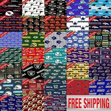 "NFL Cotton Fabric. All 32 NFL Teams Collection. 60"" Wide. Free Shipping."