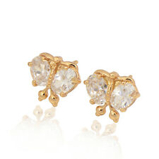 Fashion 18K yellow Gold plated Multicolor CZ Trendy Stud Earrings