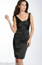 Suzi Chin for Maggy Boutique Stretch Satin Sheath Dress