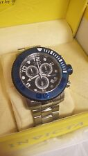 Invicta 12534 Mens Sea Hunter Black Dial Blue Bezel Chronograph Watch