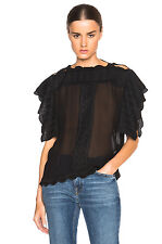 NWT $390 ISABEL MARANT ETOILE AUDRINA EMBROIDERED DANCERS TOP FR 34