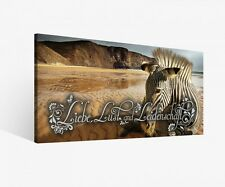 Canvas 1tlg Love Africa Desert Zebra Animal Sayings Pictures 9f434