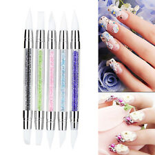 Silicone Beauty Nail Art Sculpture Carving Craft Pen Nail Art Brush Dotting Tool