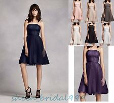 New Strapless Tulle Evening Party Dress Formal Prom Bridesmaid Dress Size 6-22++