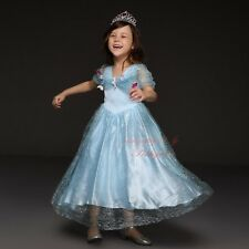 Kids Cinderella Costume Fairy Princess Girls Tulle Party Fancy Dress