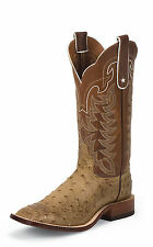 Tony Lama Mens Antique Tan Vintage Ostrich San Saba 13in Western Boots