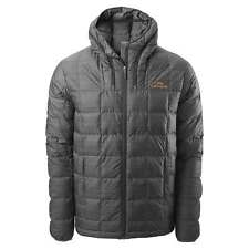Kathmandu Yatra Mens Hooded Goose Down Insulated Puffer Travel Jacket Grey