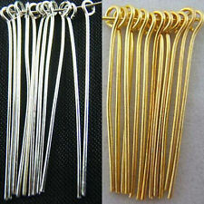New Fashion Jewelry Findings Silver/Plated Gold Plated Eye Pins Needles Hot