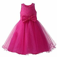 Flower Girl Dress 4 Colors Beaded Tulle Formal Party Wedding Princess Bridesmaid