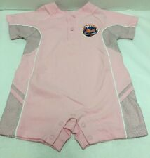 New York Mets Baby Girl Outfit One Piece Pink White Logo Choose 12 18 24 Months