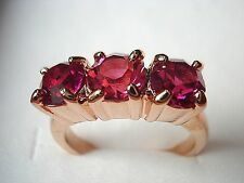Cheapest new listing lady ruby& champagne sapphire 10kt rose gold filled ring