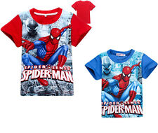 Kids Boys Super Hero Spider-Man Spiderman T-Shirts Tops Summer Cotton Clothes