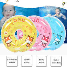 Baby Infant Swim Ring Music Swimming Neck Float Pool Bath Inflatable Ring Safety