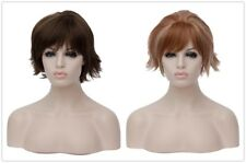 New Short Women Brown fluffy wigs Women Lolita curly hair Fashion Synthetic Wig