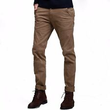 Fine!! 28-36 Mens Fashion Casual Pants Slim Straight Little Stretchy Trousers