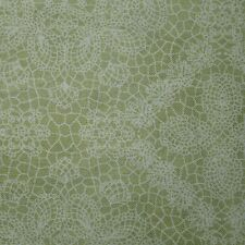 Quilt Fabric Cotton Calico Quilting FQ Pale Green Floral: Elizabeth