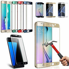 Full Coverage Tempered Glass Screen Protector Samsung Galaxy S7 S6 Edge S8 Plus