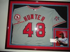 TORII HUNTER ANGELS SIGNED JERSEY 50 ANNIV 2010 ALL STAR GAME PATCHES
