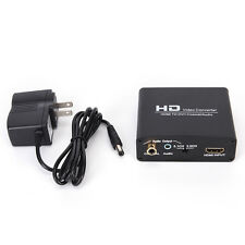 1080P HD Video HDMI to DVI Coaxial Audio Converter Adapter Box For PS4 VC