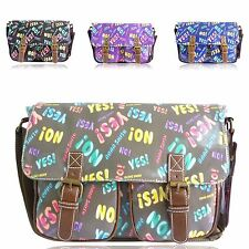 Ladies Anna Smith Letter Print Shoulder Cross Body Handbag Messenger Bag GA1344