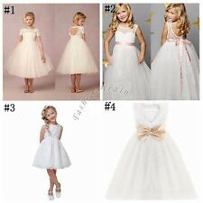 Flower Girls Formal Communion Lace Tulle Wedding Birthday Party Princess Dresses