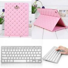 Smart PU Leather Stand Skin Case+Bluetooth 3.0 Wireless Keyboard for iPad Air 2