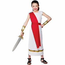 Girls Ancient Roman Girl Costume Child Role Play Party Halloween Fancy Dress Up