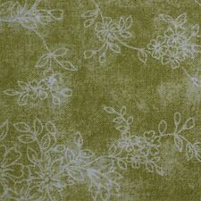 Quilting Fabric Cotton Calico Quilt FQ Green Floral by JoAnn Fabrics Fat Quarter