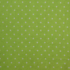 Quilting Fabric Calico Quilt FQ Lime Green Polka Dots by Marcus Fat Quarters