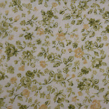 Quilting Fabric Cotton Calico FQ Quilt Green Spring Floral by JoAnn Fabrics