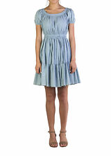 Miu Miu Women's Cotton Ribbed Dress Blue