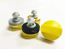KOOL STOP BRAKE PAD YELLOW PADS WITH FINS VAIROUS COLOURS - OLD SCHOOL BMX