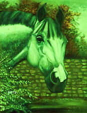 HORSE PRINT Giclee GREY Horse AMERICA by artist BETS 8 COLORS print size 12 X 16