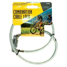 4 Digit Combination Bicycle Bike Cable Lock Security Padlock Spiral Steel Lock
